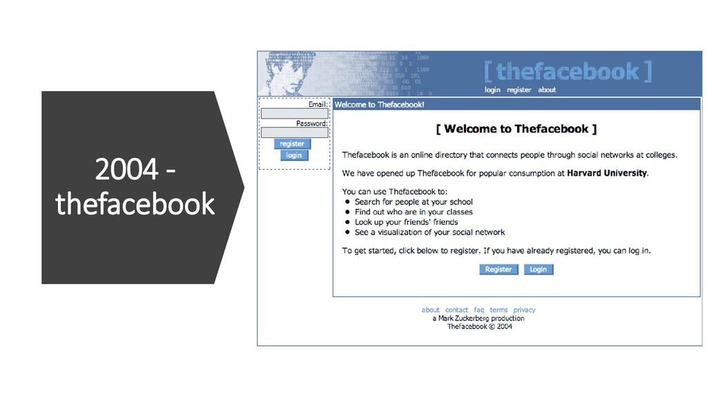 2004 - thefacebook