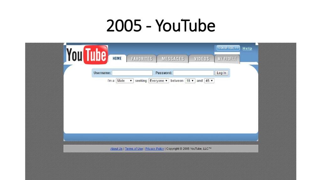 2005 - YouTube