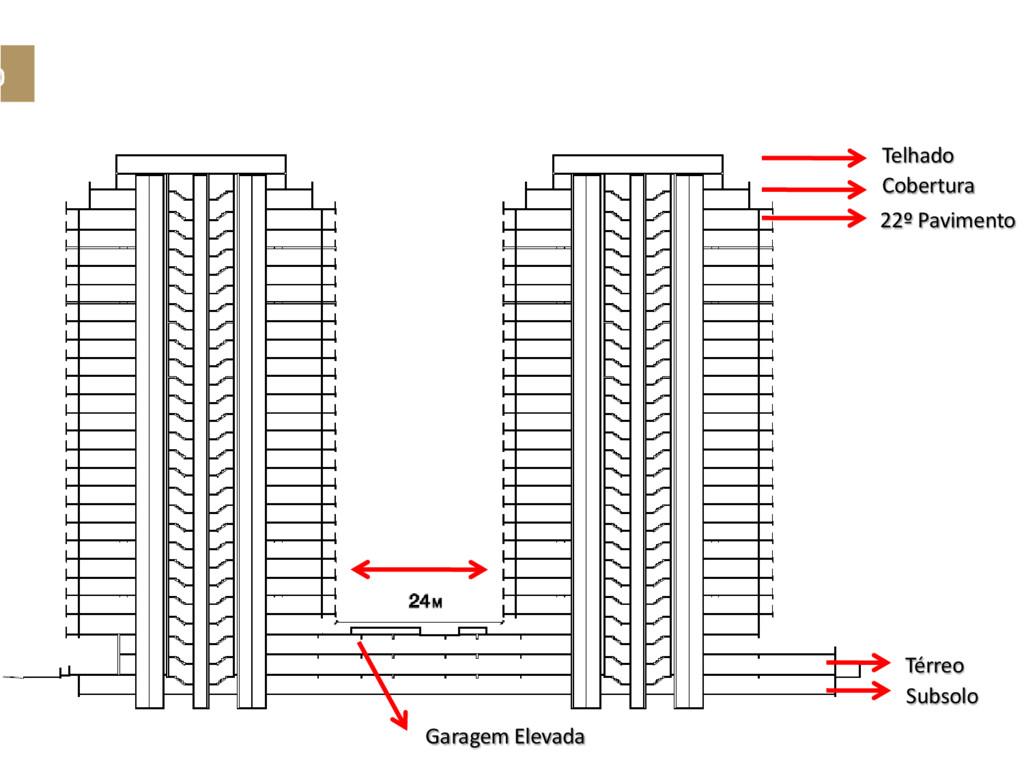 o Subsolo Térreo Telhado Cobertura 22º Paviment...
