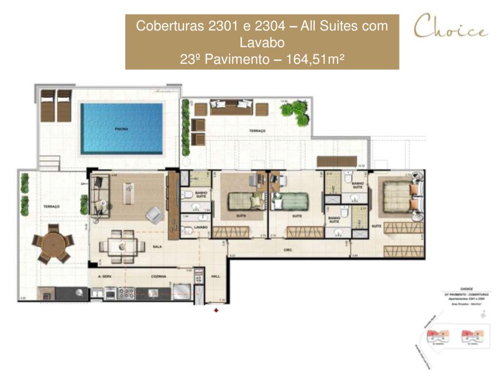 Coberturas 2301 e 2304 – All Suites com Lavabo ...