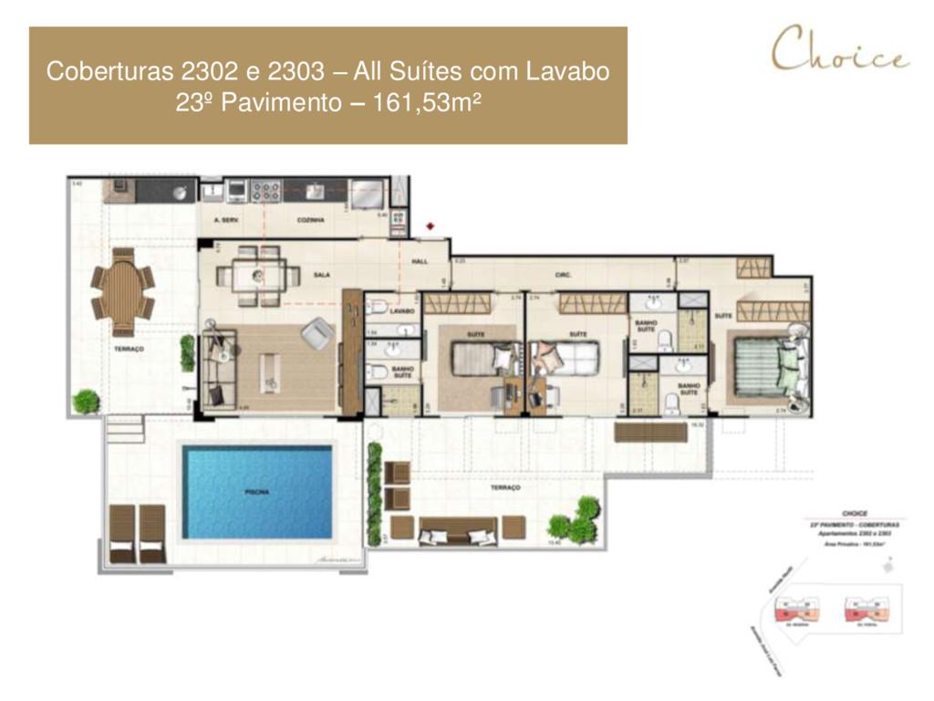 Coberturas 2302 e 2303 – All Suítes com Lavabo ...