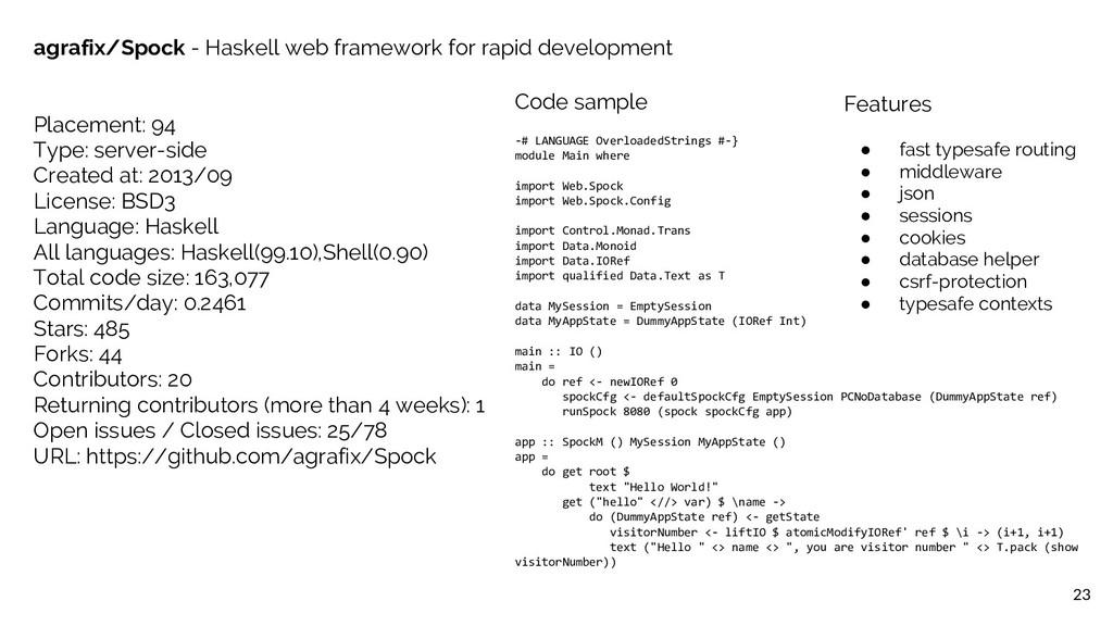 Code sample -# LANGUAGE OverloadedStrings #-} m...