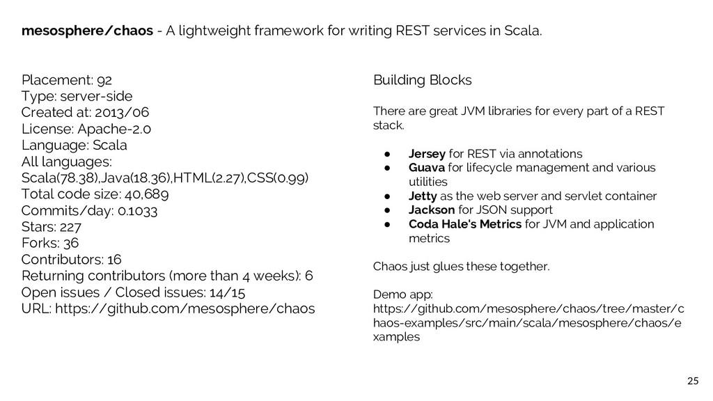 25 mesosphere/chaos - A lightweight framework f...