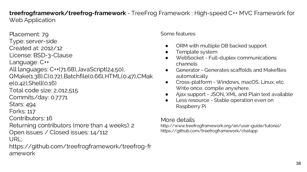 38 treefrogframework/treefrog-framework - TreeF...