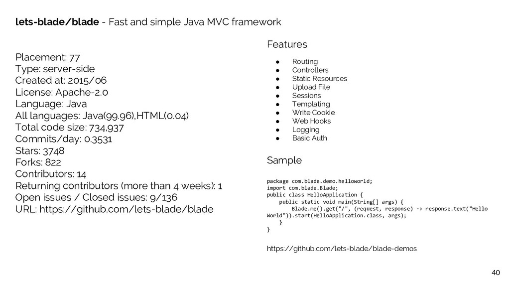 40 lets-blade/blade - Fast and simple Java MVC ...
