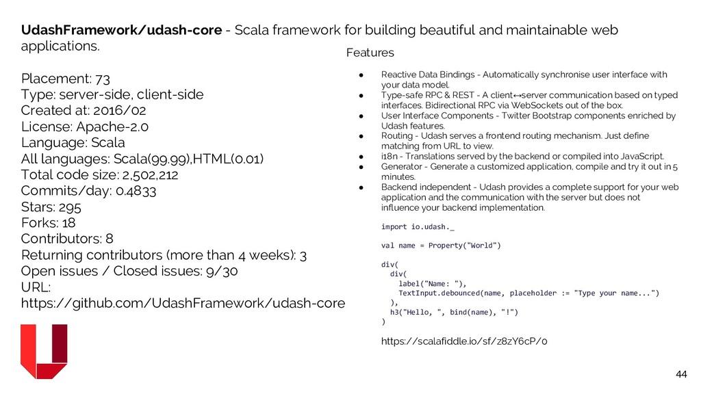 44 UdashFramework/udash-core - Scala framework ...