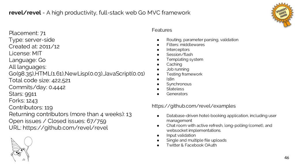 46 revel/revel - A high productivity, full-stac...