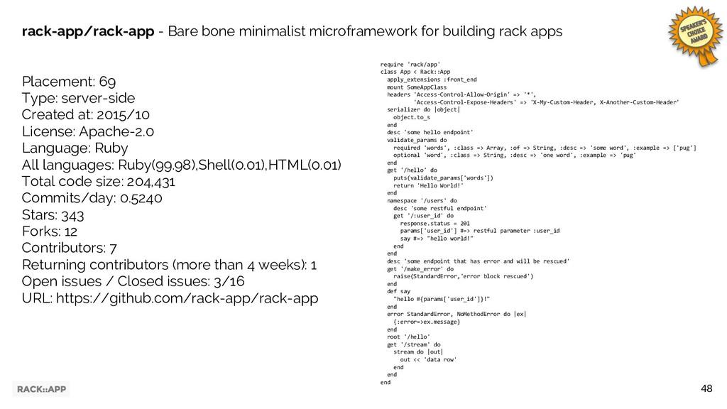 48 rack-app/rack-app - Bare bone minimalist mic...