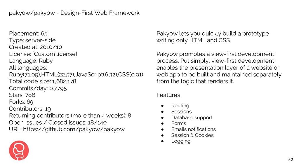 52 pakyow/pakyow - Design-First Web Framework P...