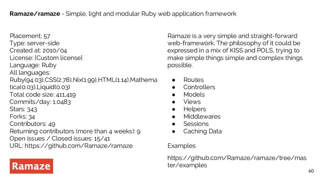 60 Ramaze/ramaze - Simple, light and modular Ru...
