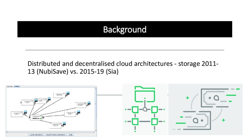 Background Distributed and decentralised cloud ...