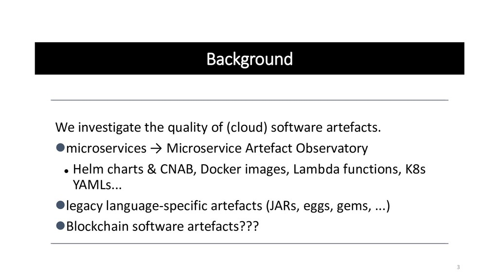 Background We investigate the quality of (cloud...