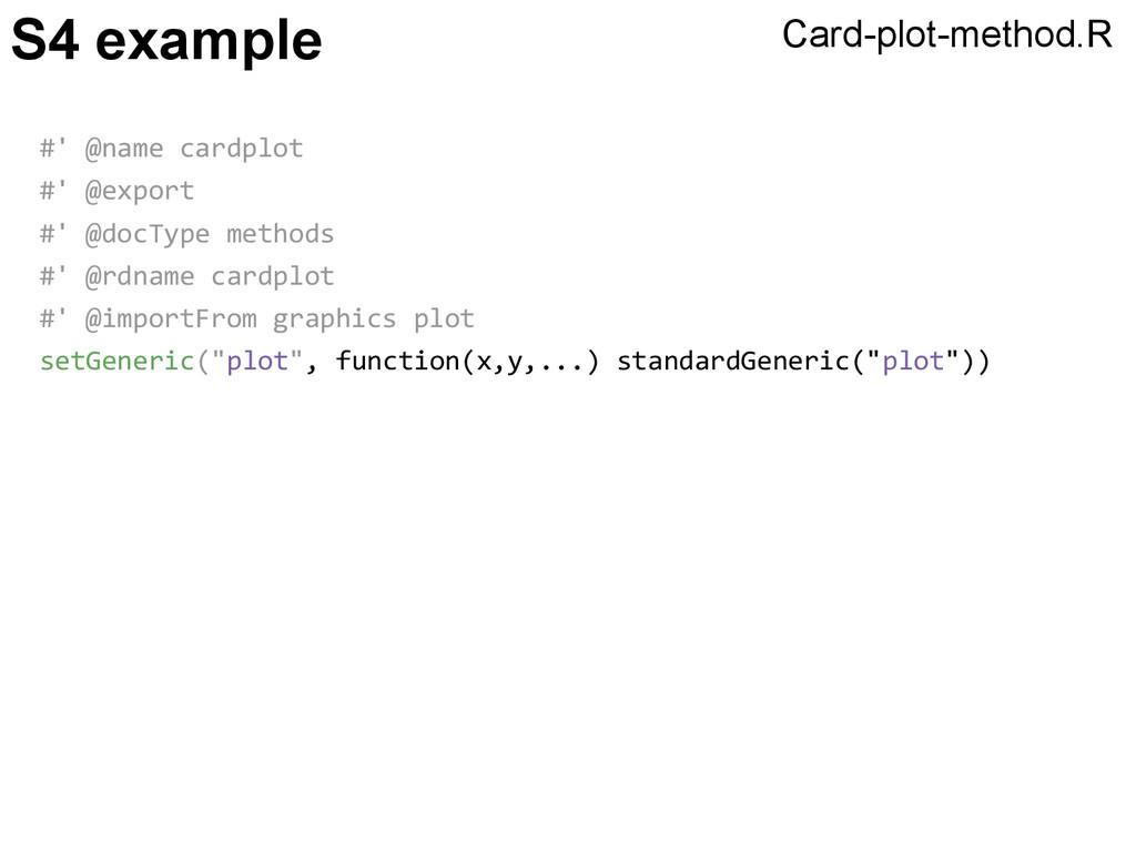 S4 example #' @name cardplot #' @export #' @doc...