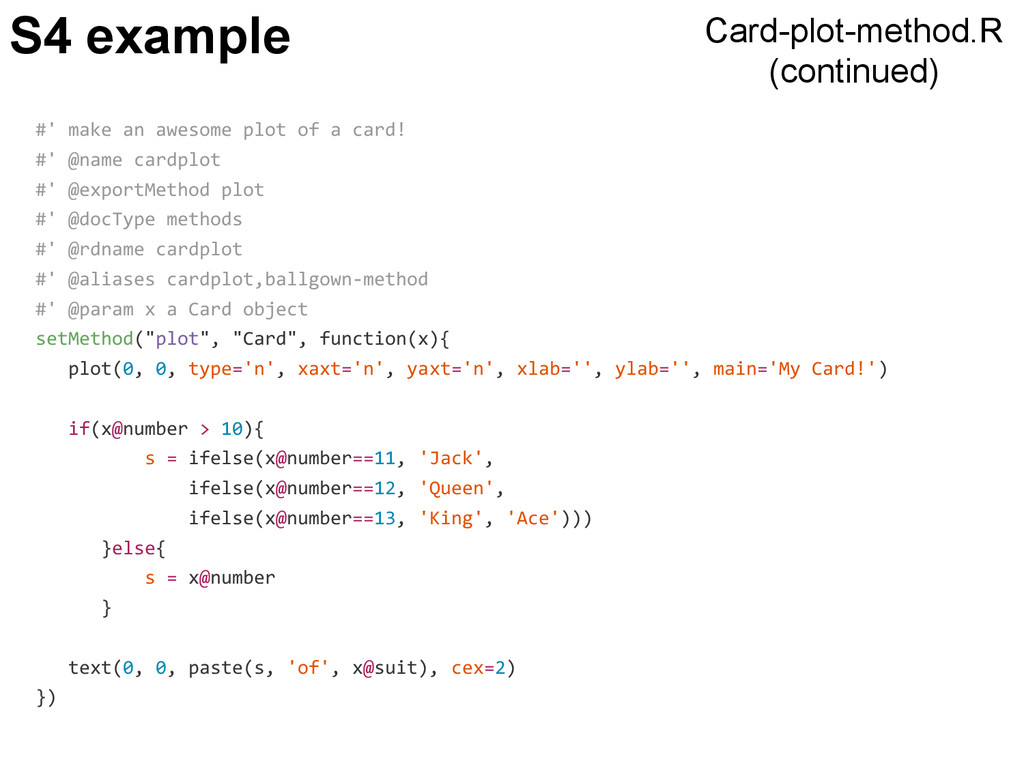 S4 example #' make an awesome plot of a card! #...