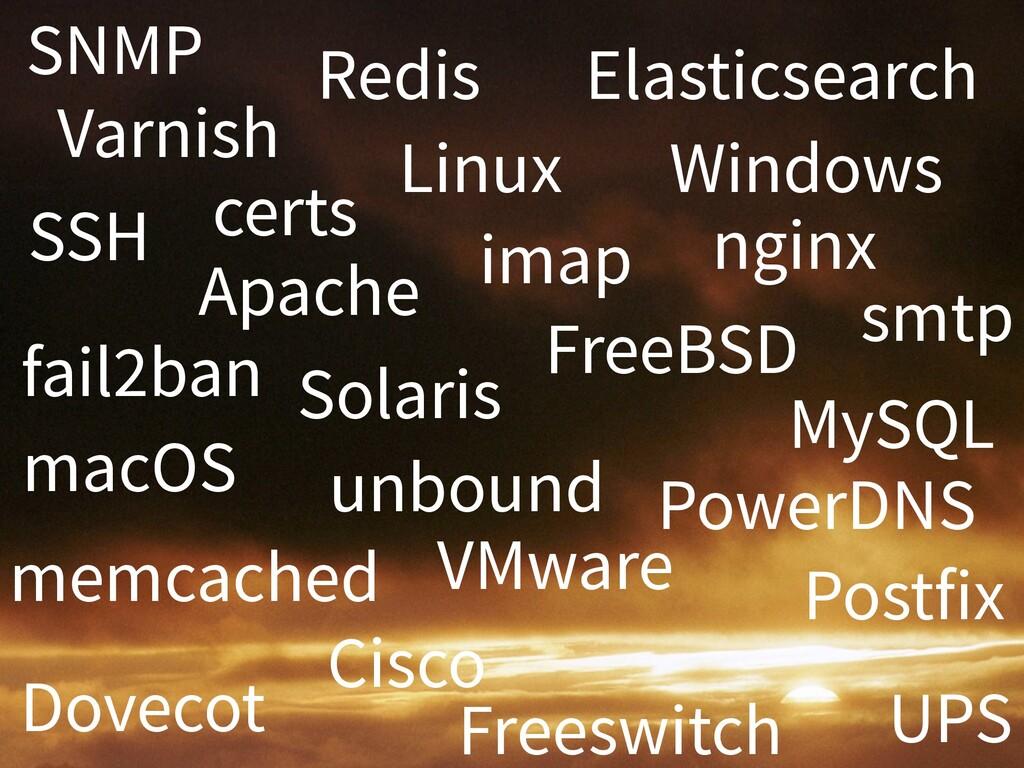SNMP Apache Linux Windows FreeBSD Solaris Elast...