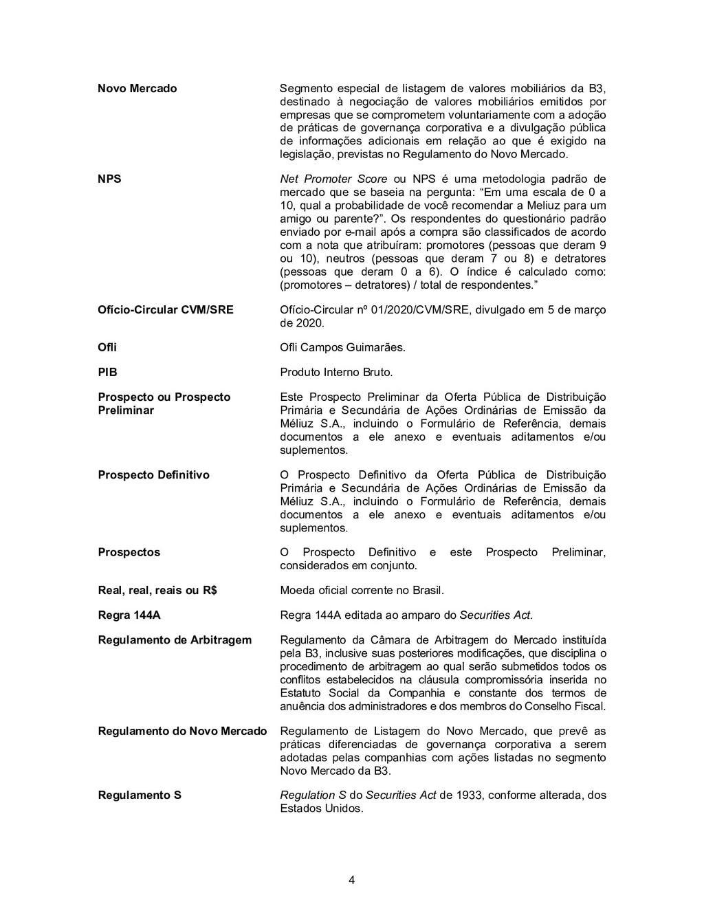 4 Novo Mercado Segmento especial de listagem de...