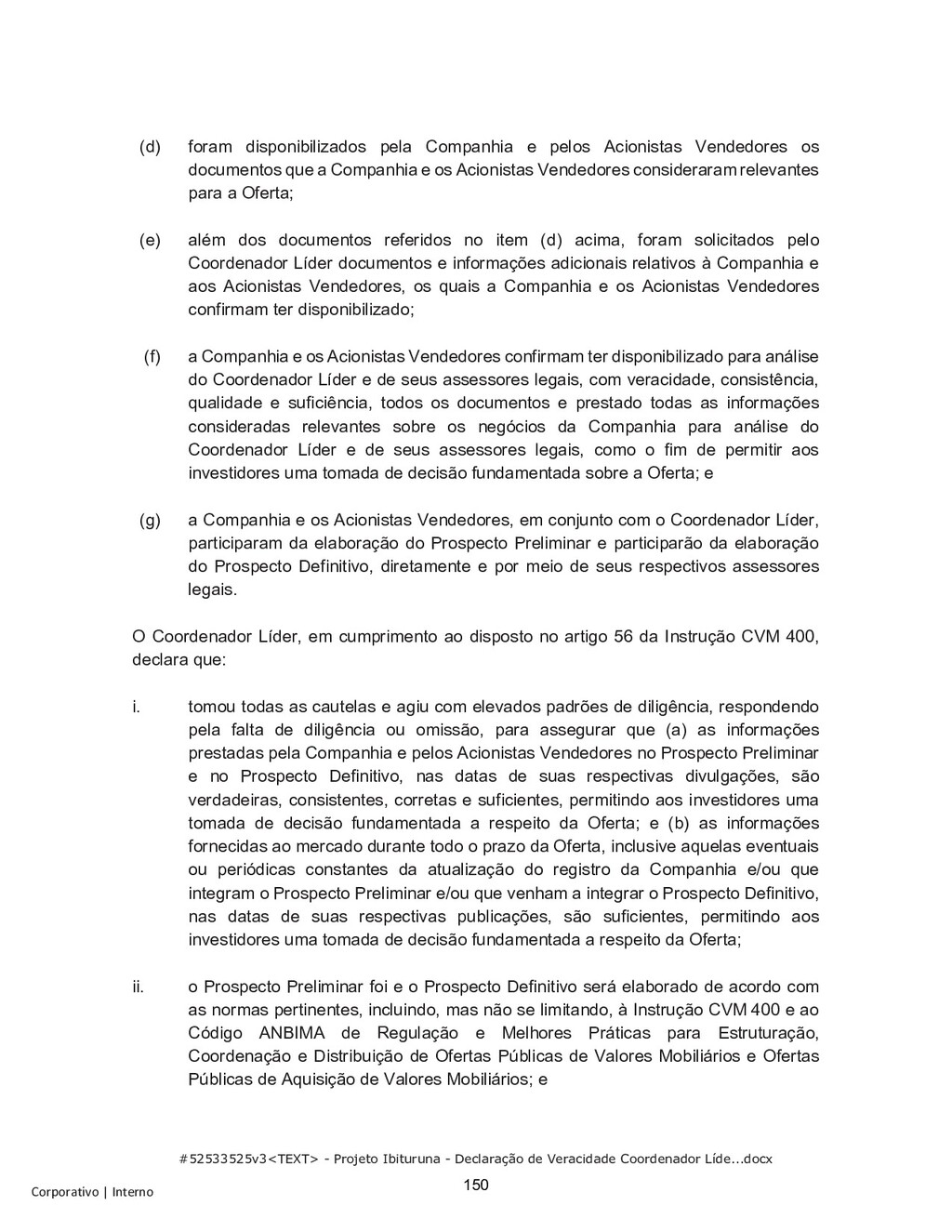 #52533525v3<TEXT> - Projeto Ibituruna - Declara...