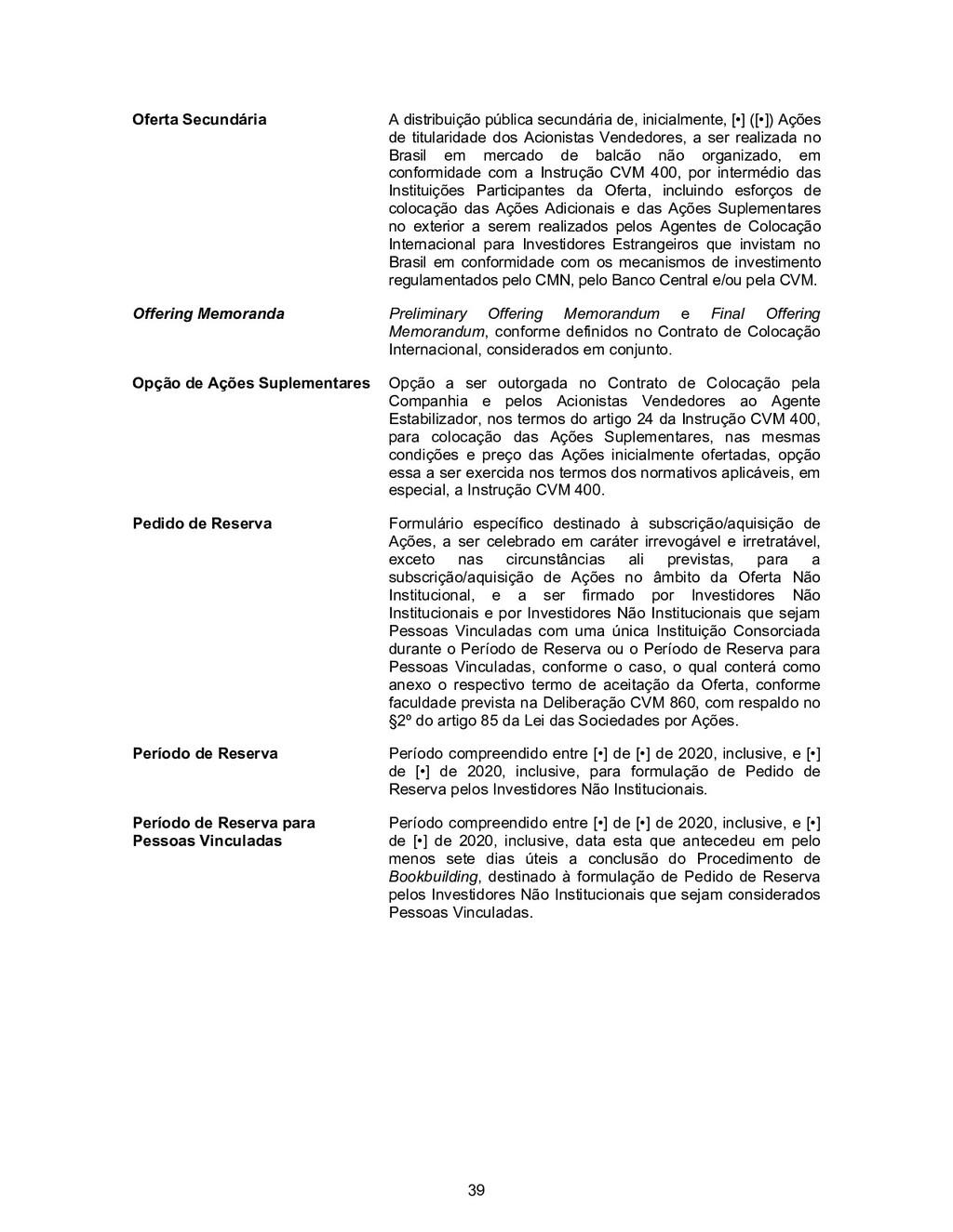 39 Oferta Secundária A distribuição pública sec...