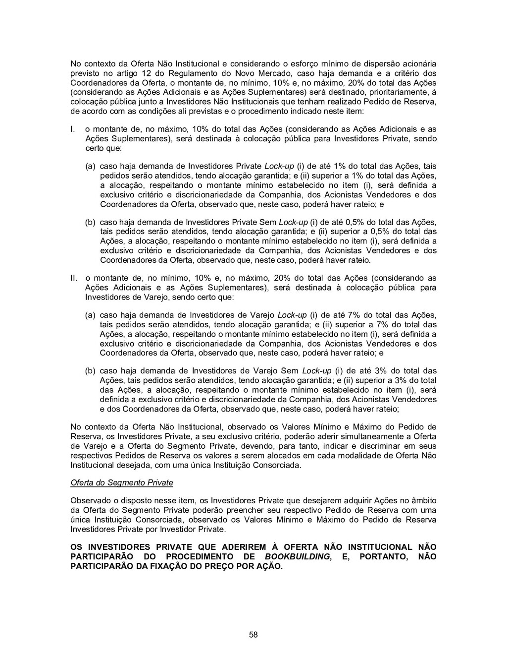 58 No contexto da Oferta Não Institucional e co...