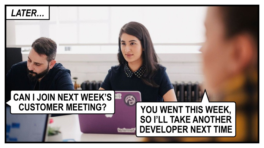 CAN I JOIN NEXT WEEK'S CUSTOMER MEETING? YOU WE...