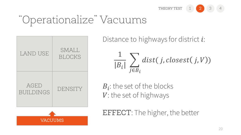 """Operationalize"" Vacuums Distance to highways f..."