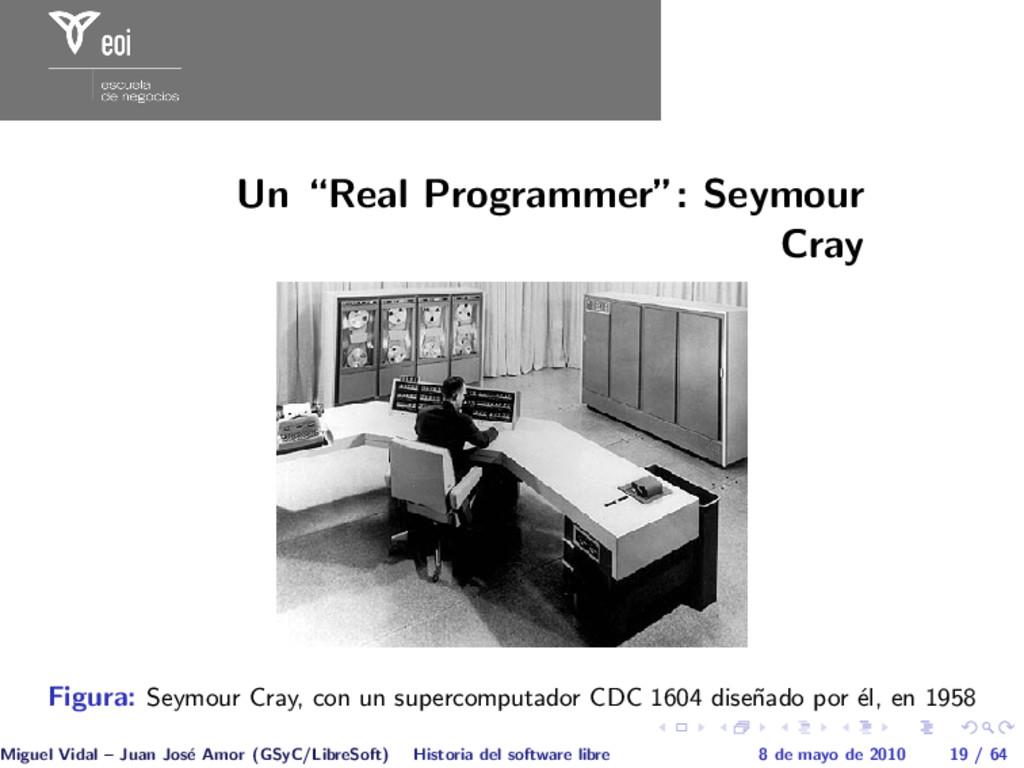 "Un ""Real Programmer"": Seymour Cray Figura: Seym..."