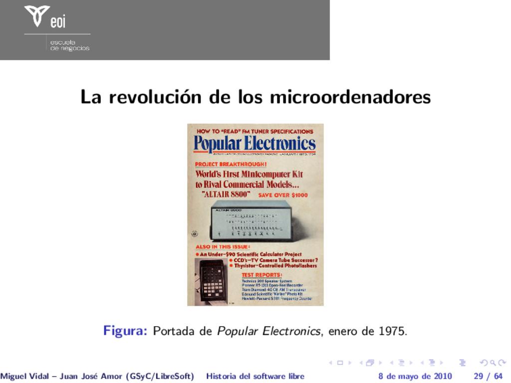 La revoluci´ on de los microordenadores Figura:...
