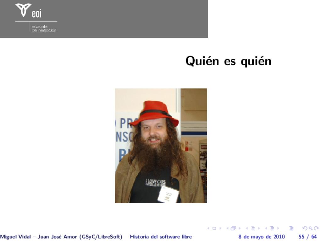 Qui´ en es qui´ en Miguel Vidal – Juan Jos´ e A...