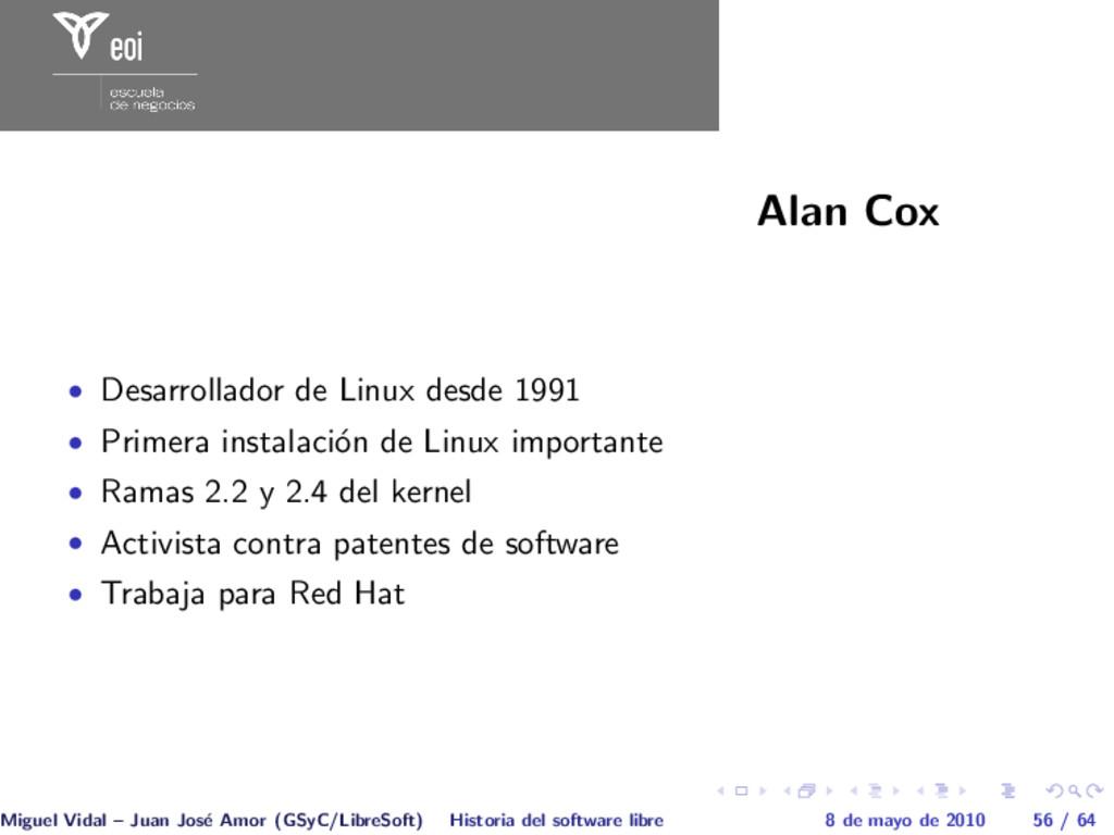 Alan Cox • Desarrollador de Linux desde 1991 • ...