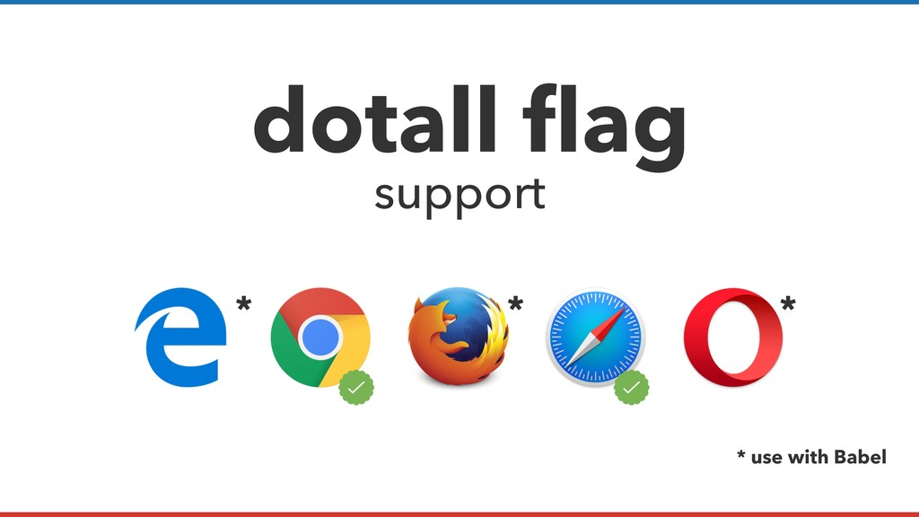 * * use with Babel dotall flag support * *