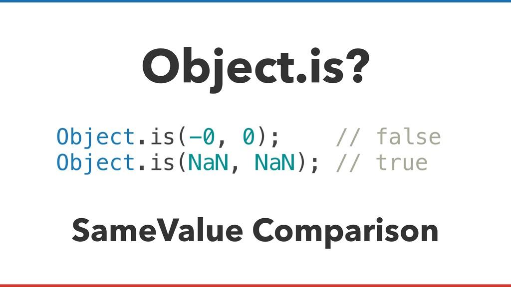 Object.is? Object.is(-0, 0); // false Object.is...