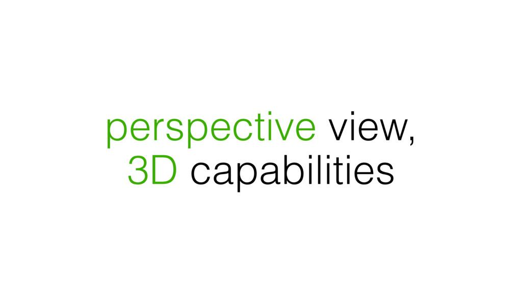 perspective view, 3D capabilities