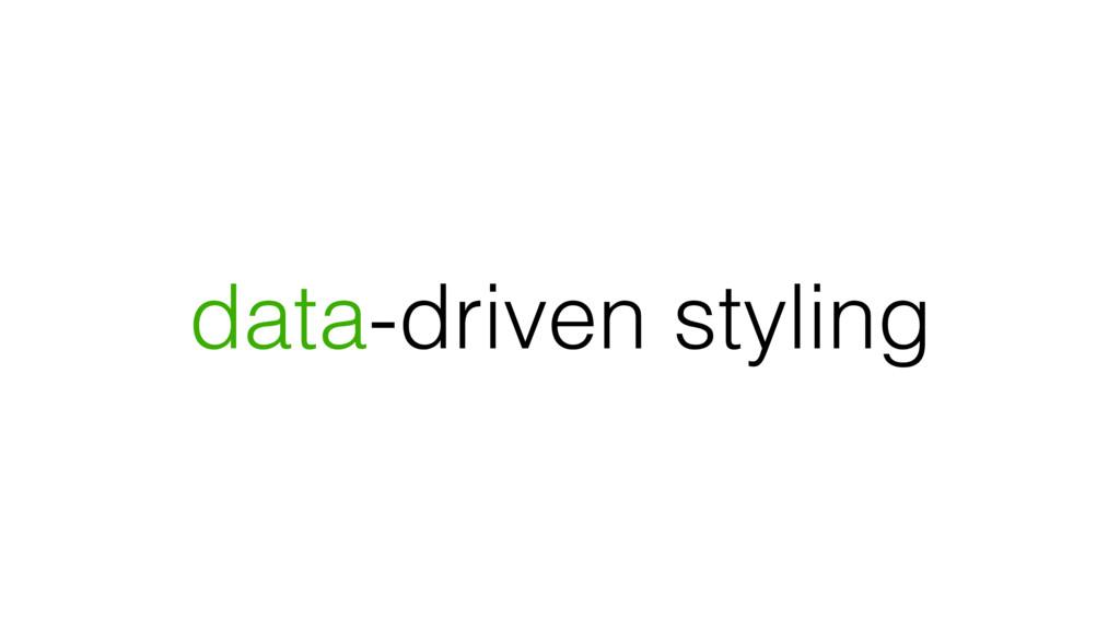 data-driven styling