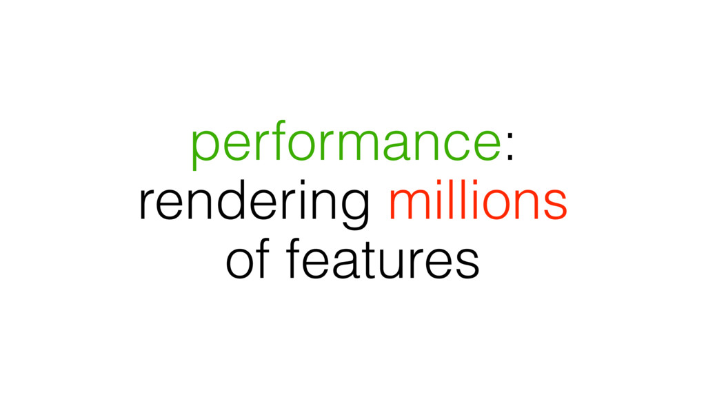 performance: rendering millions of features