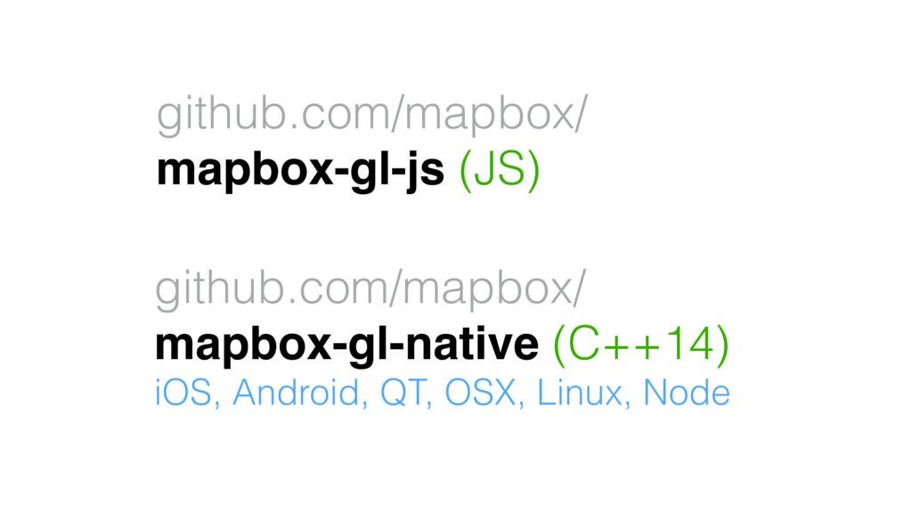 github.com/mapbox/ mapbox-gl-js (JS) github.com...