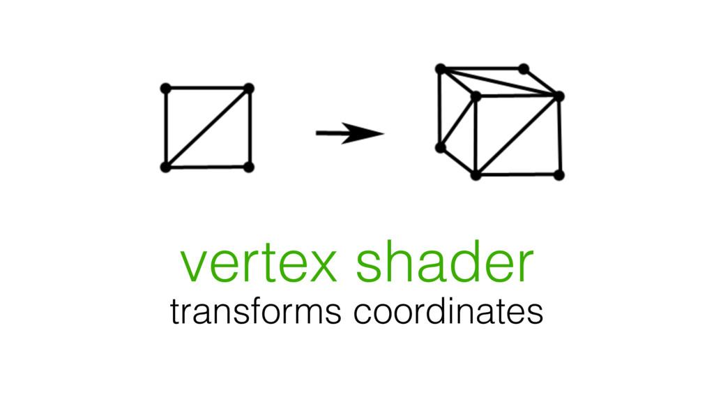vertex shader transforms coordinates