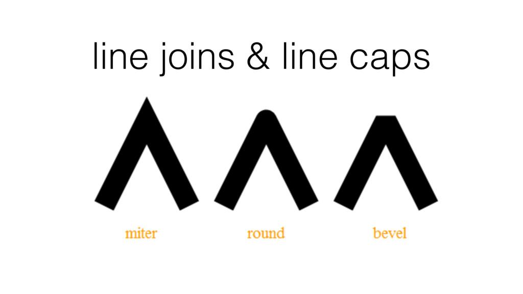 line joins & line caps