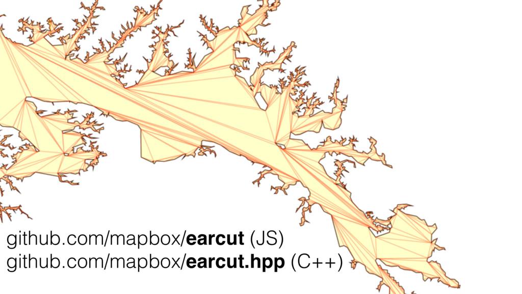 github.com/mapbox/earcut (JS) github.com/mapbox...