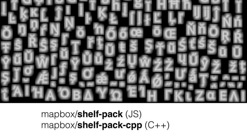 mapbox/shelf-pack (JS) mapbox/shelf-pack-cpp (C...