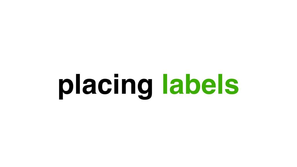 placing labels