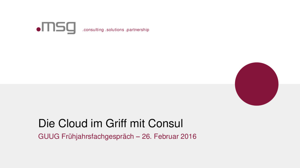 .consulting .solutions .partnership Die Cloud i...