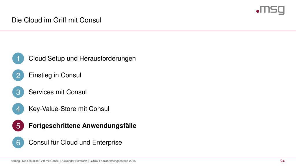 Die Cloud im Griff mit Consul 24 © msg | Die Cl...
