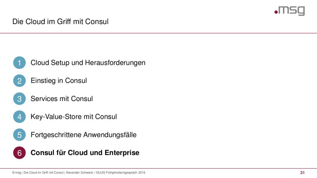 Die Cloud im Griff mit Consul 31 © msg | Die Cl...