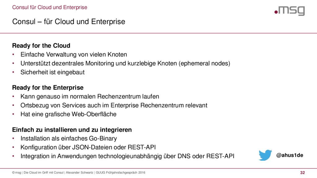 Consul für Cloud und Enterprise Consul – für Cl...