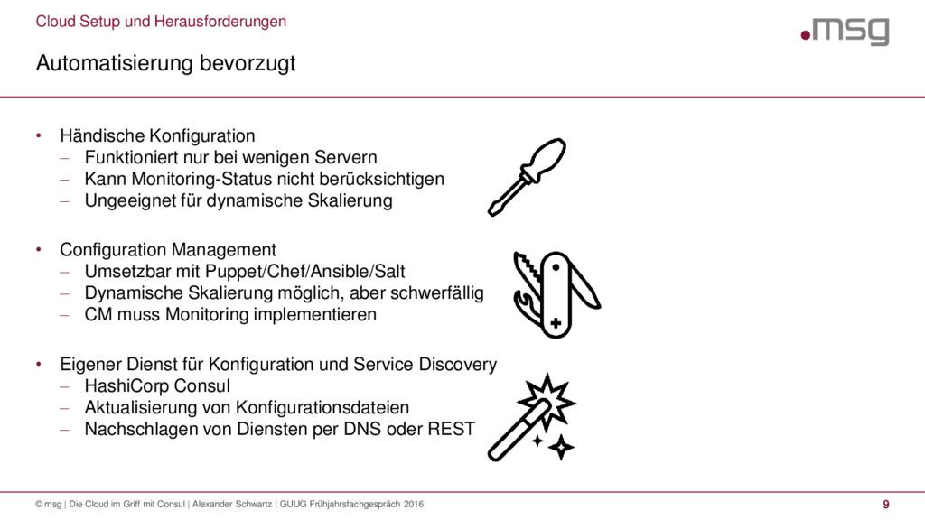Cloud Setup und Herausforderungen Automatisieru...