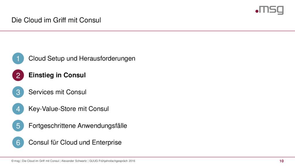 Die Cloud im Griff mit Consul 10 © msg | Die Cl...