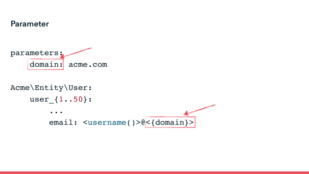 Parameter parameters: domain: acme.com Acme\Ent...