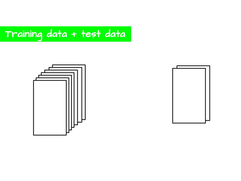 Training data + test data