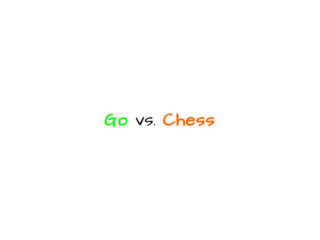 Go vs. Chess