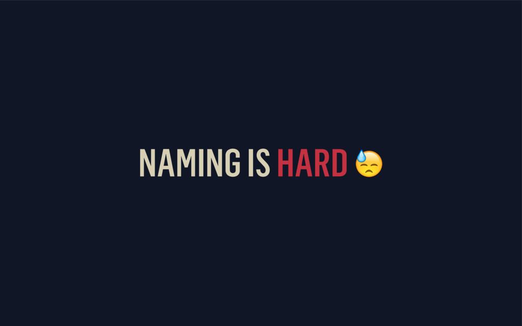 NAMING IS HARD